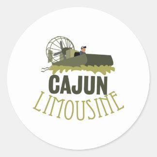 Cajun Limousine Classic Round Sticker