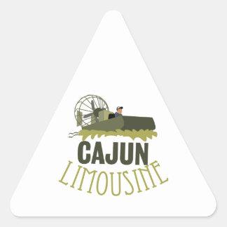 Cajun Limousine Triangle Sticker