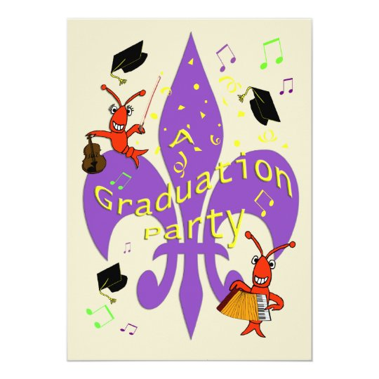 Cajun Themed Graduation Invitation