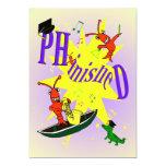 "Cajun Themed Ph.d Party Invitation 5"" X 7"" Invitation Card"