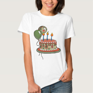 Cake-002 Red Green Olive Tshirts