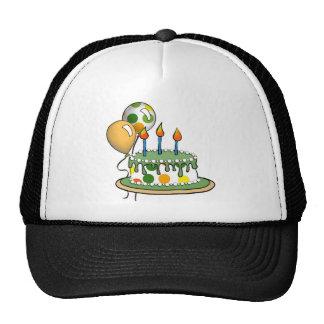 Cake-004 Green Orange Polka Dots Cap