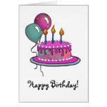 Cake-013 Magenta & Turquoise Card