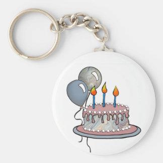 Cake-014 Milk Chocolate Basic Round Button Key Ring