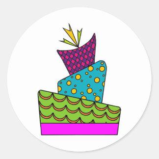 Cake Art Round Sticker