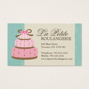 Best cake business cards business card printing zazzle uk cake bakery business cards reheart Images