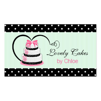 Cake Bakery in Pink Black and Mint Pack Of Standard Business Cards