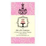 Cake Boutique Fancy Pink Damask Business Cards