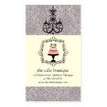 Cake Boutique Fancy Violet Damask Business Cards