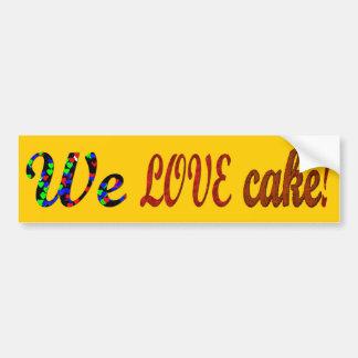 Cake Bumper Sticker