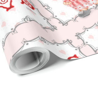 """CAKE CAT 30"""" x 30'    CARTOON Wrapping Paper"""