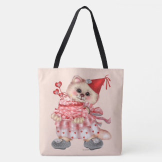 CAKE CAT CARTOON All-Over-Print Tote Bag LARGE