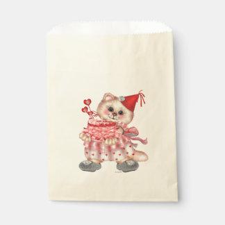 CAKE CAT CARTOON  bag Favor Ecru