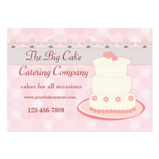 Cake catering business cards