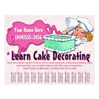 Cake Decorating. Baking. Classes. Lessons 21.5 Cm X 28 Cm Flyer