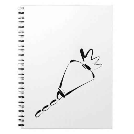 Cake Decorator Piping Bag Notebooks