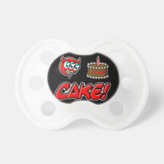 Cake demon baby pacifiers