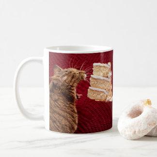 Cake Eating Kitty Coffee Mug