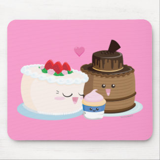 Cake Family Mouse Mat