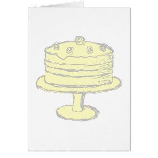 Cake. Greeting Card