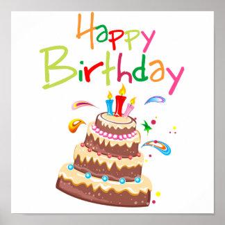 Birthday Cake Posters Art Prints : Happy Birthday Posters, Happy Birthday Prints - Zazzle UK
