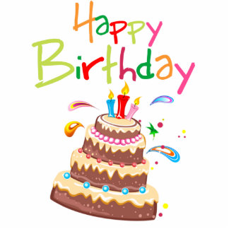 Cake Happy Birthday Standing Photo Sculpture