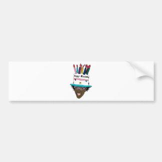 Cake hat bumper sticker