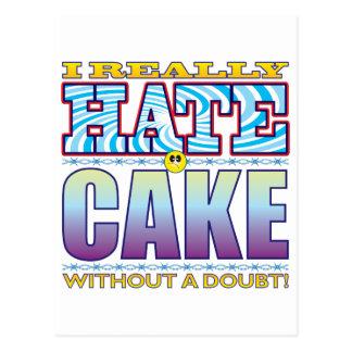 Cake Hate Face Postcard