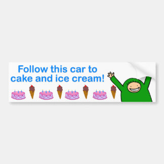 Cake & Ice Cream (Blue Text) Bumper Sticker