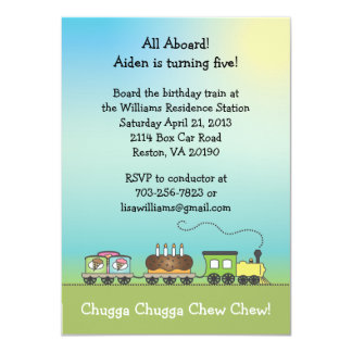 Cake & Ice Cream Train Invite - 4.5 x 6.25 Size