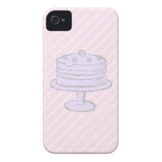 Cake in Light Purple on Pink. iPhone 4 Case-Mate Case