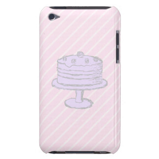 Cake in Light Purple on Pink iPod Touch Cases