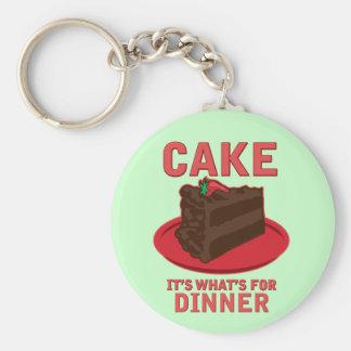 Cake, It's What's For DInner Key Ring