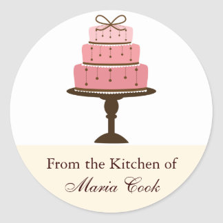 Cake Kitchen Label Round Sticker