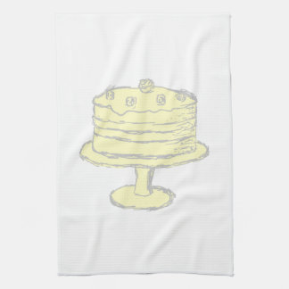 Cake. Kitchen Towels