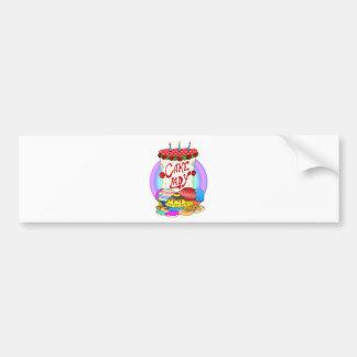 Cake Lady Design Car Bumper Sticker
