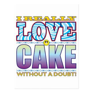 Cake Love Face Postcard