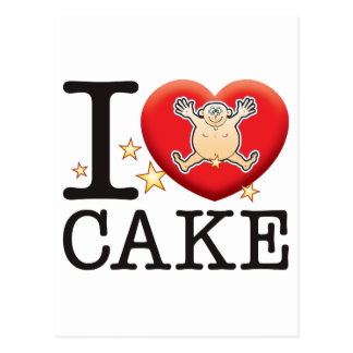 Cake Love Man Postcard