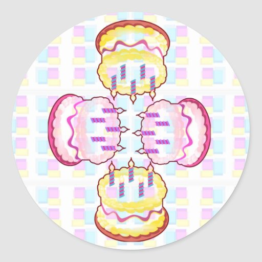 CAKE MANIA :  KIDS would like PLAY with CAKES Stickers