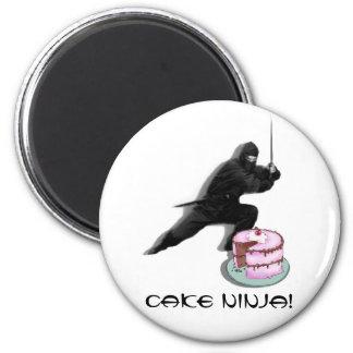 Cake Ninja! 6 Cm Round Magnet