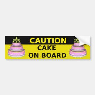 Cake On Board Sticker Bumper Sticker