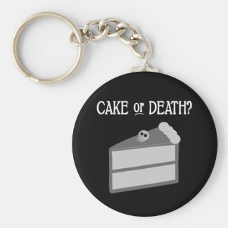 Cake or Death? Key Ring