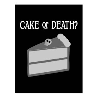 Cake or Death Post Card