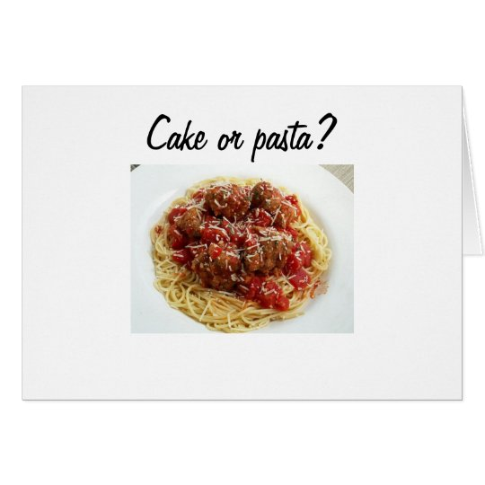 CAKE OR PASTA BIRTHDAY CARD