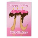 Cake Pi Day 3.14 March 14th Birthday Greeting Card