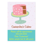 Cake-Pink & Green Business Card Templates