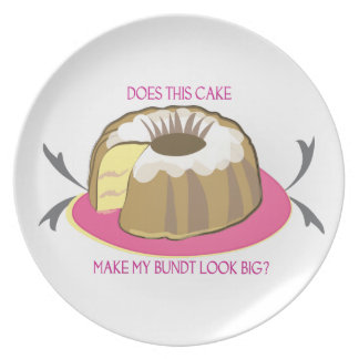 Cake Plate: Does This Cake Make My Bundt Look Big? Plate