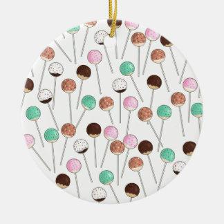 Cake Pop Design Christmas Ornament