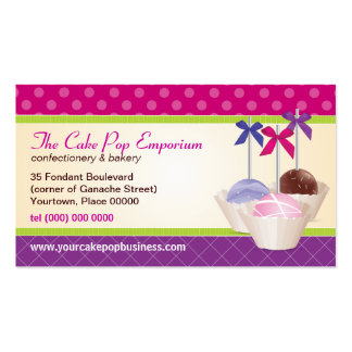 Cake Pop Pattern Business Card