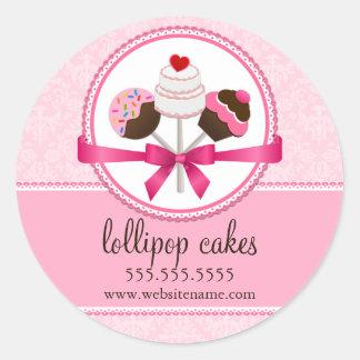 Cake Pops Bakery Box Seals Sticker